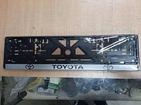 Рамка під номер з написом Toyota, Чорна Рамка, рамка для номера