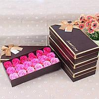 Подарочный набор с розами из мыла Мыло из роз Подарок девушке Мыло лепестки роз  Подарки для женщин