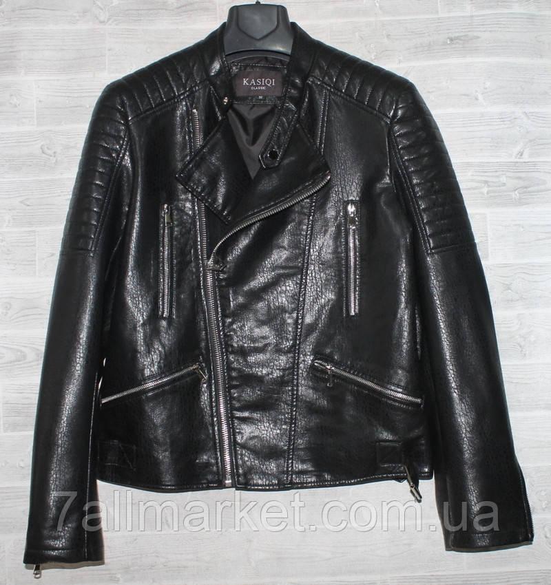 """Куртка-косуха чоловіча KASIQI демісезонна кожзам, розміри 46-58 """"JOKER"""" купити недорого від прямого постачальника"""