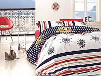 Комплект постельного белья First Choice Ranforce Aqua Passion Двуспальный Евро