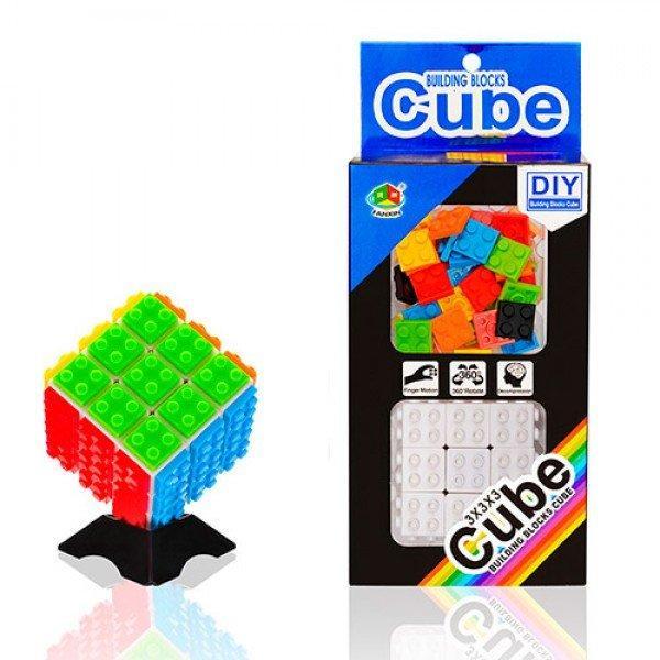 FX7780 Кубик конструктор, 6-6-6см, накладные детали 54шт, в кор. 23-10-6,5см