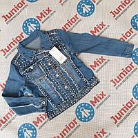 Подрлстковые джинсовые пиджаки для девочек оптом  MUA GIRL