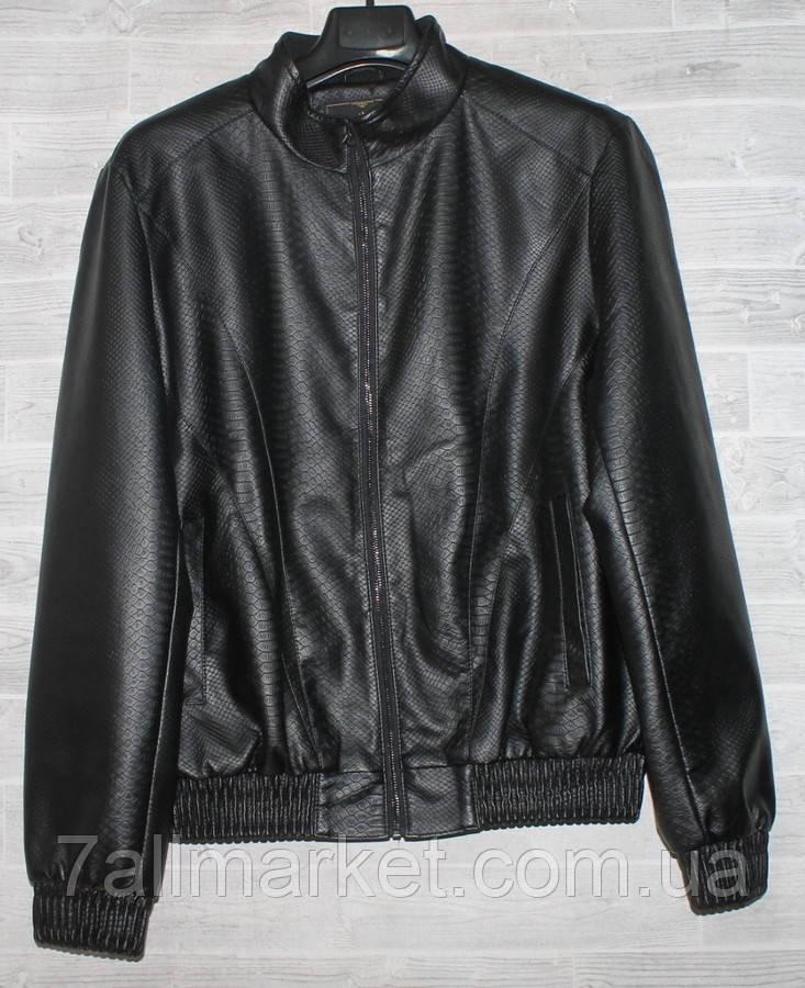 """Куртка чоловіча демісезонна кожзам, стійка,розміри L-4XL """"JOKER"""" купити недорого від прямого постачальника"""