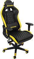Кресло офисное компьютерное игровое Bonro 1018 геймерское Желтое