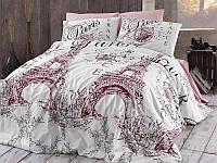 Комплект постельного белья First Choice Ranforce Romantica Pudra Двуспальный Евро