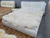 """Кровать двуспальная из натуральной кожи с подъемным механизмом """"Серджи"""" В НАЛИЧИИ"""