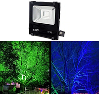 Светодиодный прожектор 10Вт RGB, цветной  с пультом Sunlight