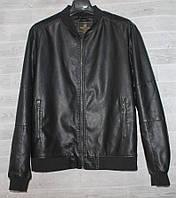 """Куртка-бомбер мужская демисезонная кожзам,размеры L-4XL """"JOKER"""" купить недорого от прямого поставщика, фото 1"""