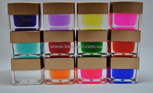 Цветные гели набором