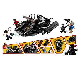 22001 Детский конструктор JVToy Легендарная Черная Пантера понравится всем маленьким любителям увлекательных приключений!