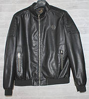 """Куртка чоловіча демісезонна кожзам,розміри L-4XL """"JOKER"""" купити недорого від прямого постачальника, фото 1"""