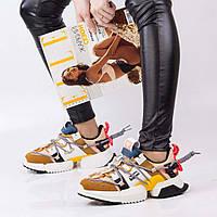 Женские цветные кроссовки Lonza 1916-6 YELLOW весна 2020 +++ H1916-6 желтый, фото 1