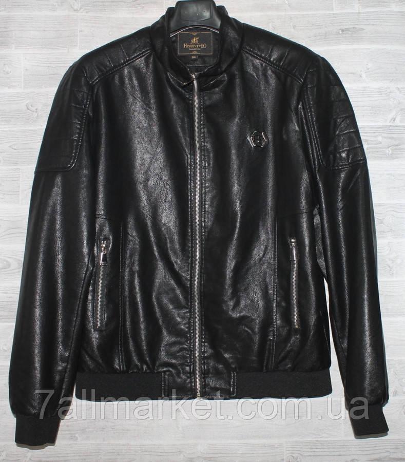 """Куртка мужская демисезонная кожзам, стойка, размеры L-4XL """"JOKER"""" купить недорого от прямого поставщика"""