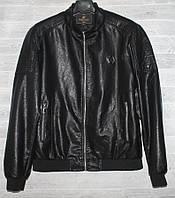 """Куртка мужская демисезонная кожзам, стойка, размеры L-4XL """"JOKER"""" купить недорого от прямого поставщика, фото 1"""