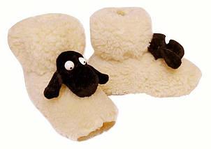 Детские меховые тапочки Овечки Sheepskin Размер 2, фото 3