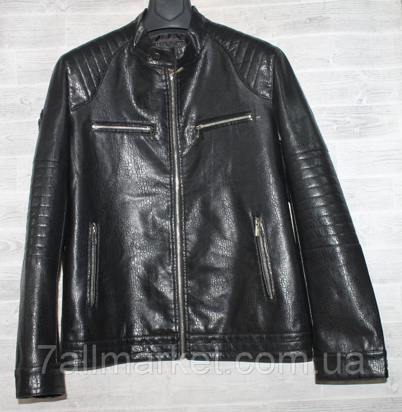 """Куртка чоловіча KASIQI демісезонна кожзам, стійка, розміри 46-58 """"JOKER"""" купити недорого від прямого постачальника"""