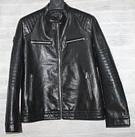 """Куртка чоловіча KASIQI демісезонна кожзам, стійка, розміри 46-58 """"JOKER"""" купити недорого від прямого постачальника, фото 1"""