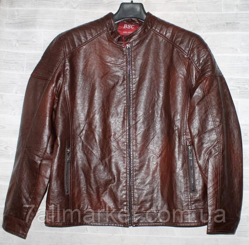"""Куртка чоловіча BSC демісезонна кожзам, розміри 46-58 (2цв) """"JOKER"""" купити недорого від прямого постачальника"""