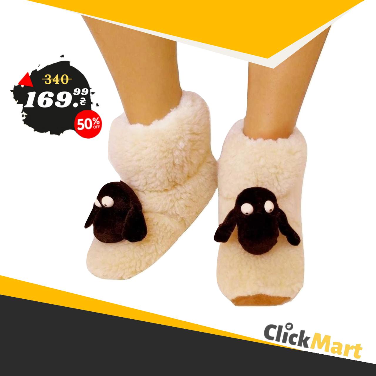 Детские меховые тапочки Овечки Sheepskin Размер 2
