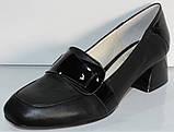 Туфли женские кожаные на среднем каблуке от производителя модель КЛ2040, фото 3