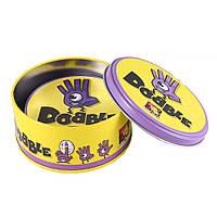 Настольная карточная игра Dobble Дабл Доббл Добл Добль в жестяной банке