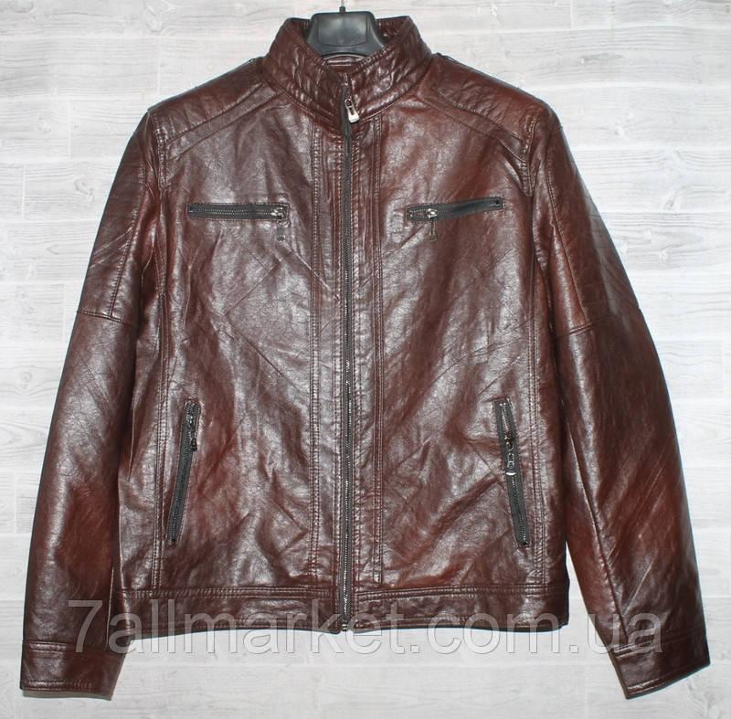 """Куртка мужская BSC демисезонная кожзам, размеры 46-58 (2цв) """"JOKER"""" купить недорого от прямого поставщика"""
