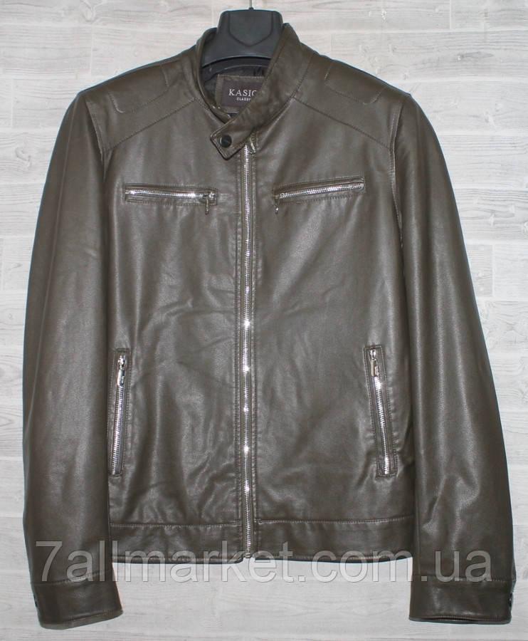 """Куртка мужская KASIQI демисезонная кожзам, размеры 48-60 """"JOKER"""" купить недорого от прямого поставщика"""