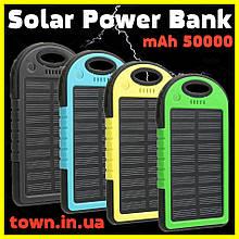 Павер банк Solar Power Bank 50000 mAh. Солнечная батарея Solar Power Bank 50000 mAh