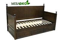 """Кровать детская из натурального дерева """"Марсель"""" с нижним ящиком под постель."""