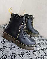 Ботинки женские кожаные ,демисезонные ботинки в стиле Мартинс