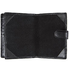 Бумажник KOCHI мужской кожаный 105х140х25 застёжка кнопка  м К-265Д-12Н09ч, фото 3