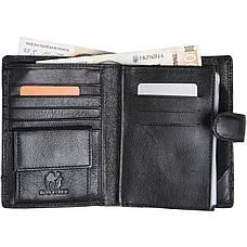 Бумажник KOCHI мужской кожаный 105х140х25 застёжка кнопка  м К-265Д-12Н09ч, фото 2