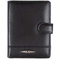 Бумажник KOCHI мужской кожаный 105х140х25 застёжка кнопка  м К-265Д-12Н09ч
