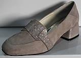Туфли женские кожаные на среднем каблуке от производителя модель КЛ2040-1, фото 6