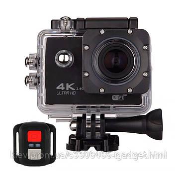 Action Camera XPRO WiFi 4K F60R с набором креплений и аквабоксом (Черный)