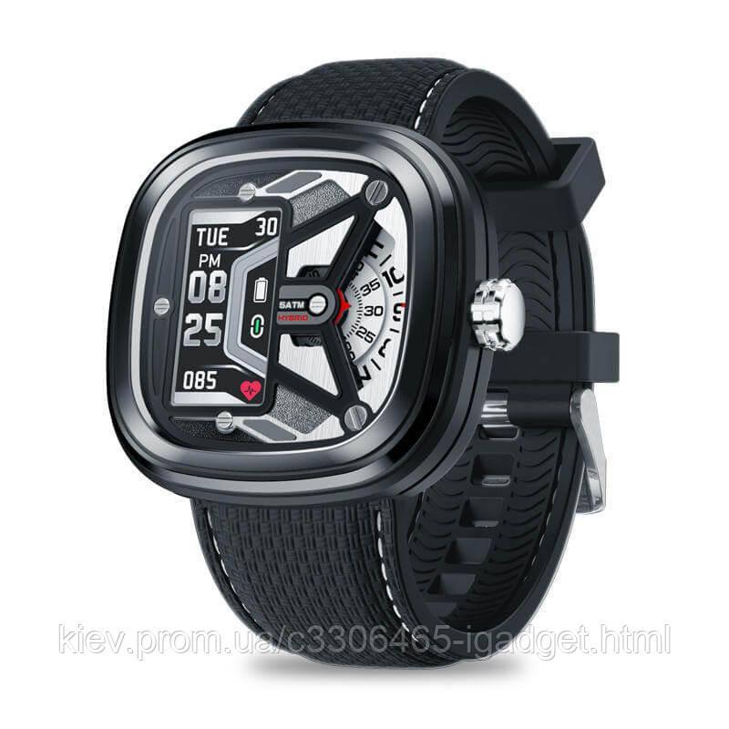 Умные смарт часы Zeblaze Hybrid 2 с измерением давления (Черный)