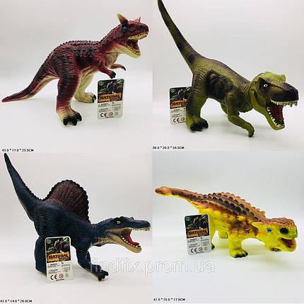 Z05-2/3/4/5 Игрушка Динозавр резин.звук.4в.кул.41*15,5*17, фото 2