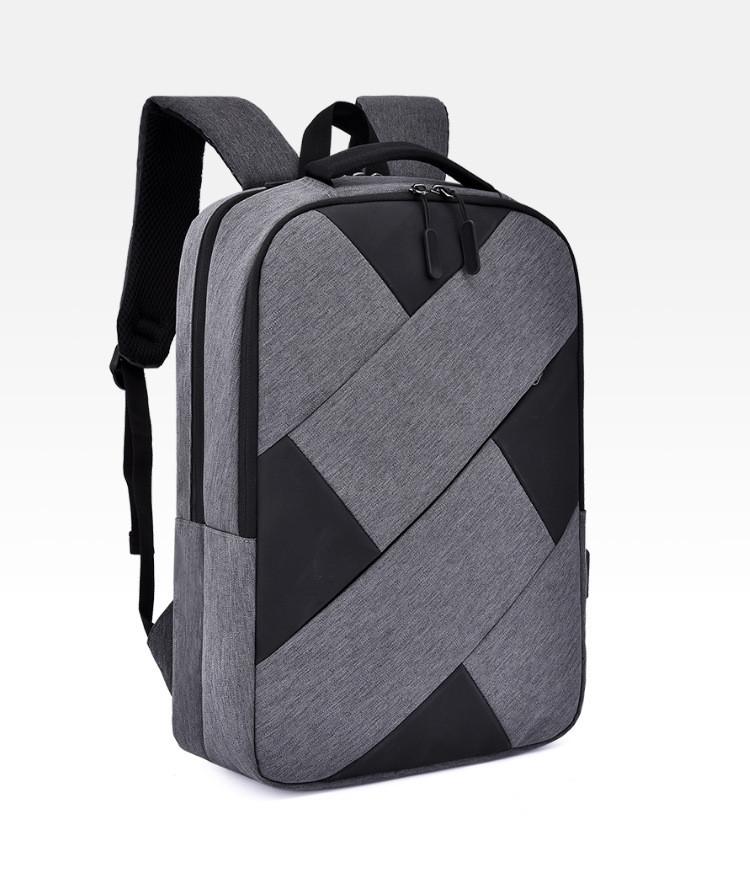 """Рюкзак противоударный для ноутбука 15,6"""" с usb, черный с серым ( код: IBN009BS )"""