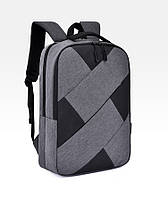"""Рюкзак противоударный для ноутбука 15,6"""" с usb, черный с серым ( код: IBN009BS ), фото 1"""