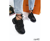 Женские кроссовки Vintage вставки экозамши, фото 1