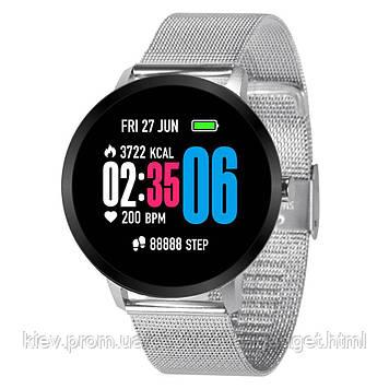 Умные часы фитнес браслет V11 Metal с тонометром и пульсоксиметром (Серебристый)