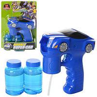 Мыльные пузыри 99085  пистолет-машинка,звук,свет,запаска2шт,на бат-ке,на листе,18,5-26,5-6см