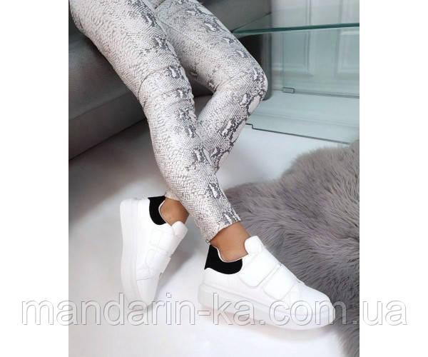 Кроссовки на липучках с черным задником