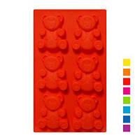 Силиконовая форма для выпечки кексов - Мишки Барни 6 ячеек по 8.5 см