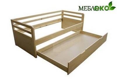 """Детская \ подростковая кровать из натурального дерева, модель """"Икея №1""""."""