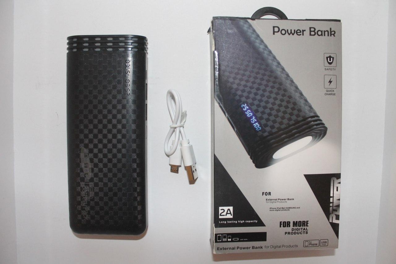 Внешний аккумулятор PowerBank Samsung 30000mAh 2USB, индикатор заряда, фонарик (5000mAh) черный
