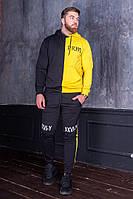 Двухцветный мужской спортивный костюм
