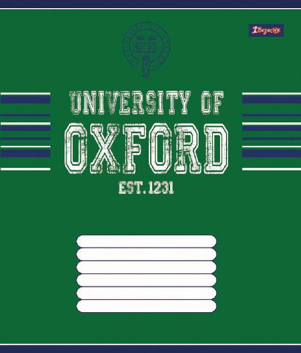 Тетрадь ученическая А5/48 клетка 1 Вересня OXFORD классик-15, фото 1