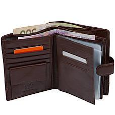 Бумажник кожаный мужской коричневый KOCHI  105х140х25 застёжка кнопка  м К265Д-12Н09к, фото 2