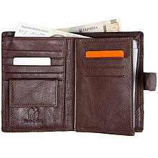 Бумажник кожаный мужской коричневый KOCHI  105х140х25 застёжка кнопка  м К265Д-12Н09к, фото 3